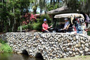 Golf course creek bridge